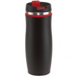 Kubek termiczny DARK CREMA, czar/czerwony