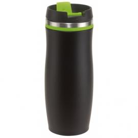 Kubek termiczny DARK CREMA, czar/zielony