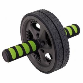 Wałek do ćwiczeń FIT WHEEL, czarny/zielony