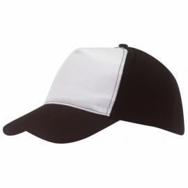 Czapka baseball BREEZY, czarny/biały