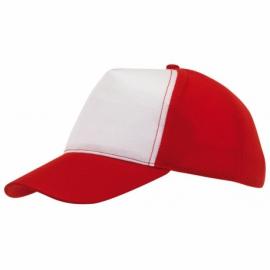 Czapka baseball BREEZY, czerwony/biały