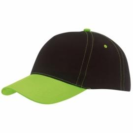 Czapka baseball BREEZY, neon ziel/czarny