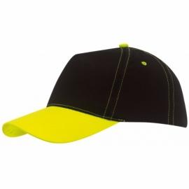 Czapka baseball BREEZY, neon żółty/czarny