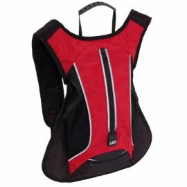Plecak sportowy LED RUN, czerw/czarny