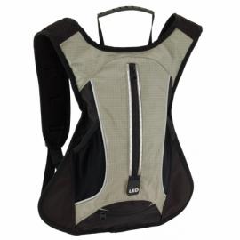 Plecak sportowy LED RUN, szary/czarny