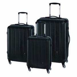 3-częściowy zest. walizek CORK, czarny
