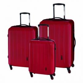 3-częściowy zest. walizek CORK, czerwony