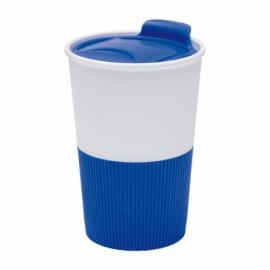 Kubek do picia REFRESHER, biały/niebieski