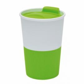 Kubek do picia REFRESHER, zielony/biały
