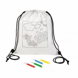 Plecak-kolorowanka COLORFUL HOBBY, biały
