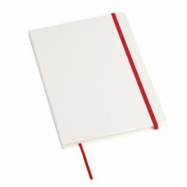 Notes AUTHOR format A5, biały/czerwony