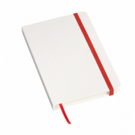 Notes AUTHOR format A6, biały/czerwony