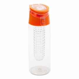 Bidon Frutello 700 ml, pomarańczowy/transparentny