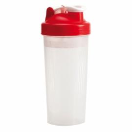 Shaker Muscle Up 600 ml, czerwony