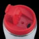 Kubek izotermiczny Astana 350 ml z motywem świątecznym, czerwony/biały
