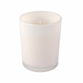 Świeca w szklanym pojemniku, biały