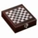 Zestaw do wina z szachami Sublime, brązowy