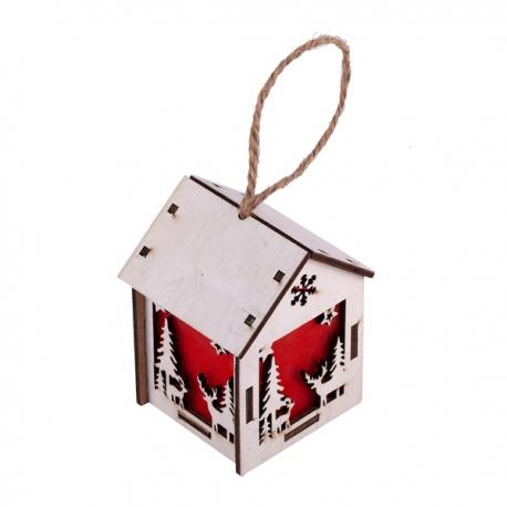 Mały lampion Christmas Lantern, biały