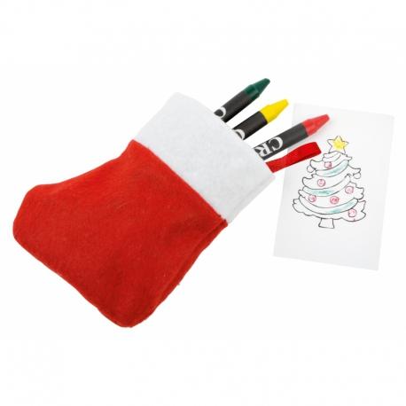 Zestaw do kolorowania NICOLA, czerwony/biały