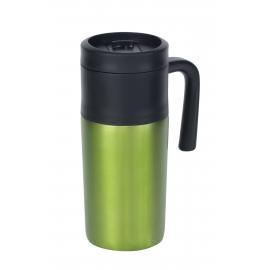 Kubek termiczny, GRAB AND GO, czarny/zielony