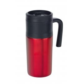 Kubek termiczny, GRAB AND GO, czarny/czerwony