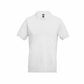ADAM. Męski polos t-shirt XXL Biały