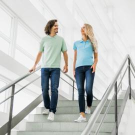 ADAM. Męski polos t-shirt XL Brązowy