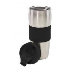 Kubek termiczny, AU LAIT, srebrny/czarny