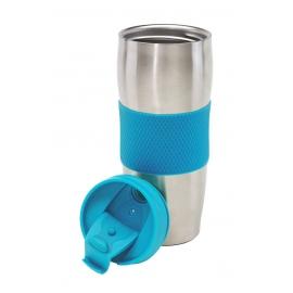 Kubek termiczny, AU LAIT, srebrny/niebieski