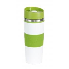 Kubek termiczny, ARABICA, biały/zielony