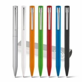 WASS. Aluminiowy długopis z mechanizmem obrotowym Satynowy srebrny