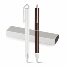 HOOK. Długopis z brązu z mechanizmem obrotowym Brązowy