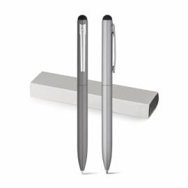 WASS Touch. Aluminiowy długopis z mechanizmem obrotowym Satynowy srebrny