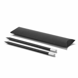 Zestaw ołówków Satynowy srebrny