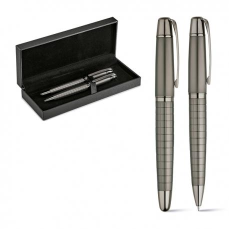 WARHOL. Zestaw, pióro kulkowe i długopis Stalowy