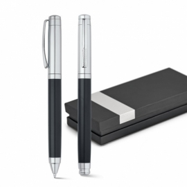 ZAIRE. Zestaw, pióro kulkowe i długopis Czarny