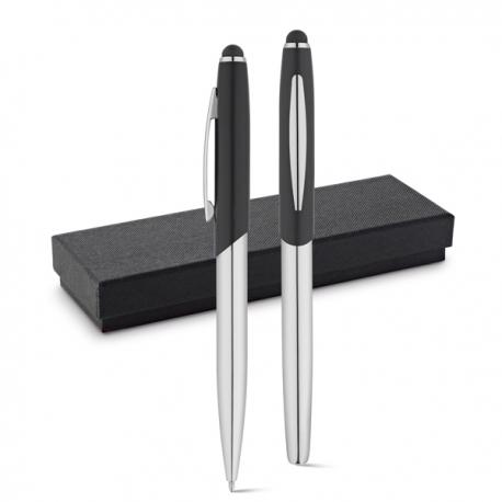 DOUBLETTE. Zestaw, pióro kulkowe i długopis Czarny